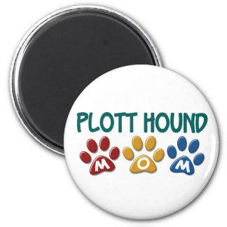 PLOTT HOUND Mom Paw Print 1 6 Cm Round Magnet