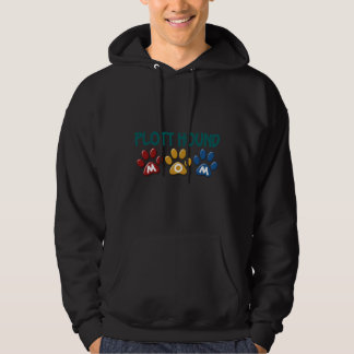 PLOTT HOUND Mom Paw Print 1 Hooded Pullovers