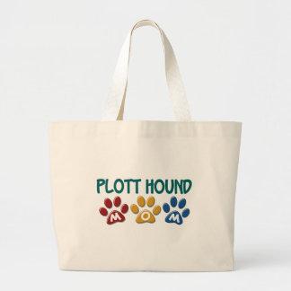 PLOTT HOUND Mom Paw Print 1 Jumbo Tote Bag