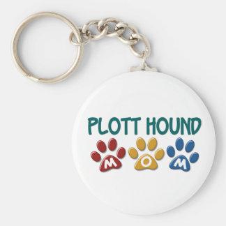 PLOTT HOUND Mom Paw Print 1 Basic Round Button Key Ring