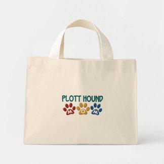 PLOTT HOUND Mom Paw Print 1 Mini Tote Bag