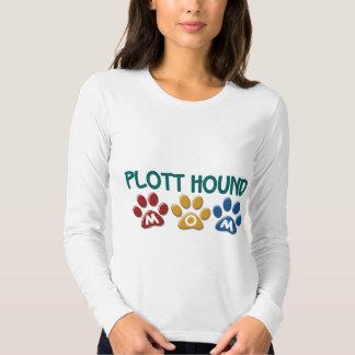 PLOTT HOUND Mom Paw Print 1 Tshirt