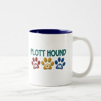 PLOTT HOUND Mom Paw Print 1 Two-Tone Mug