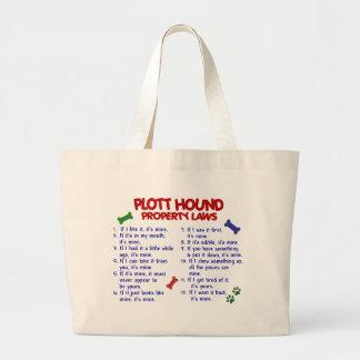 PLOTT HOUND Property Laws 2 Canvas Bag