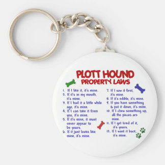 PLOTT HOUND Property Laws 2 Basic Round Button Key Ring