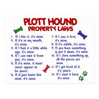 PLOTT HOUND Property Laws 2 Postcard