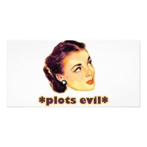 Plotting Evil Customized Photo Card