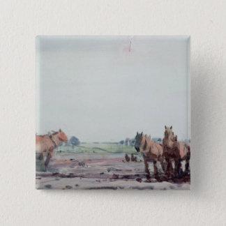 Plough Horses 15 Cm Square Badge