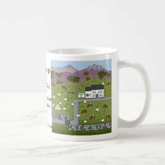 Plough Inn at Ox Tor Basic White Mug