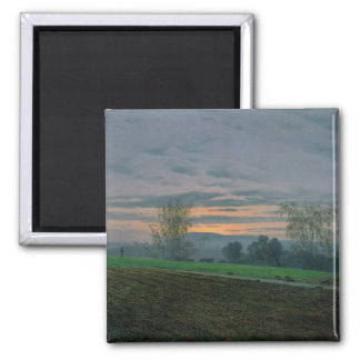 Ploughed Field, c.1830 Square Magnet