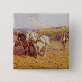 Ploughing 15 Cm Square Badge