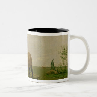 Ploughing in Spring, 1820s Two-Tone Coffee Mug