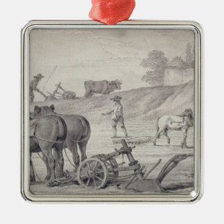 Ploughing the Fields Christmas Ornament