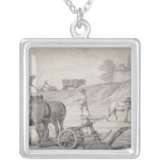 Ploughing the Fields Silver Plated Necklace