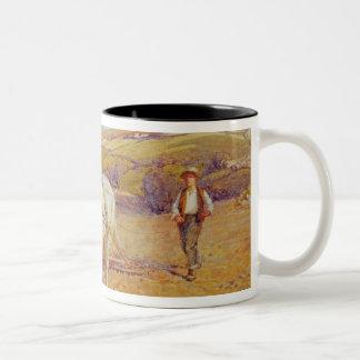 Ploughing Two-Tone Coffee Mug