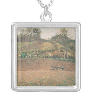 Ploughland, 1874 silver plated necklace