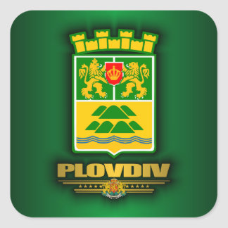 Plovdiv COA Square Sticker