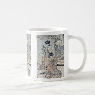 Plovers by Utamaro II, d Ukiyoe Mug