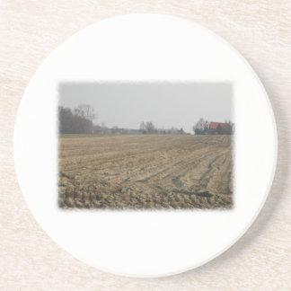Plowed Field in Winter. Scenic. Coaster