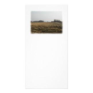 Plowed Field in Winter Scenic Photo Cards