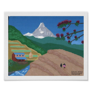Plowing with Oxen, Nepal Poster