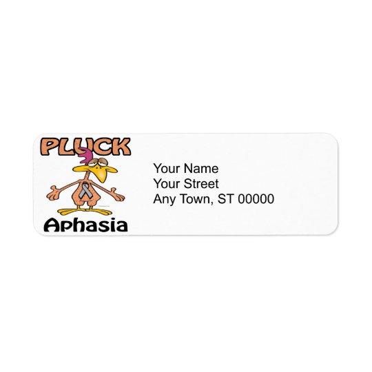 Pluck Aphasia Awareness Design