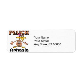 Pluck Aphasia Awareness Design Return Address Label