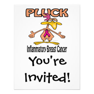 Pluck Inflammatory Breast Cancer Awareness Design Personalized Invitations
