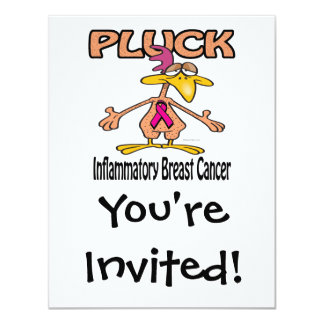 Pluck Inflammatory Breast Cancer Awareness Design 11 Cm X 14 Cm Invitation Card