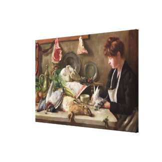 Plucking the Pigeon Canvas Print