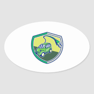 Plug-in Hybrid Electric Vehicle Retro Shield Oval Sticker