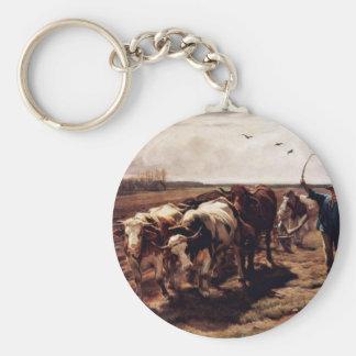 Plügende Ox By Koller Rudolf (Best Quality) Key Chain
