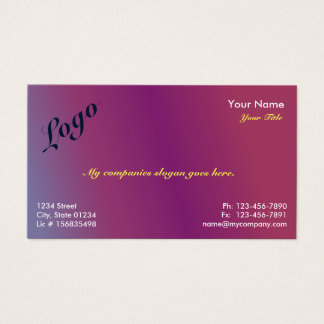 Plum2 Gradient 1 Sided Business Card Template v2