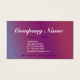 Plum2 Gradient 1 Sided Business Card Template v3