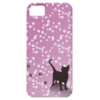 Plum and cat iPhone case
