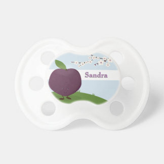 Plum and Name Pacifier