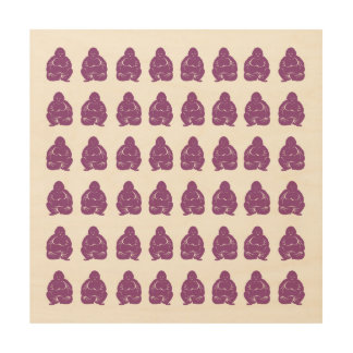 Plum Asian Moods Buddah Boys Wood Print