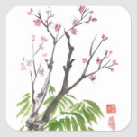 Plum Blossom and Bamboo Stickers