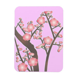 Plum blossom beautiful pink magnet