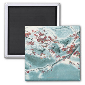 Plum Blossom in Snow Magnet