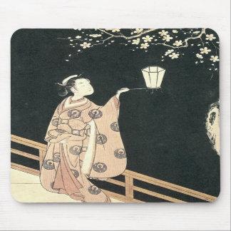 Plum Blossom Viewing Harunobu 1760s Mousepad