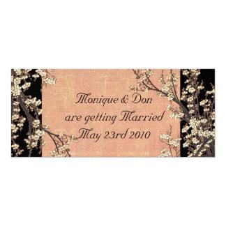 Plum Blossom Wedding Invitation