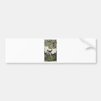 Plum Blossoms and Cranes by Ito Jakuchu Bumper Sticker