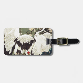Plum Blossoms and Cranes by Ito Jakuchu Tag For Bags
