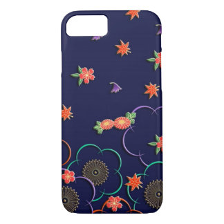 Plum blossoms and leaves iPhone 8/7 case