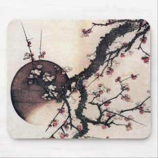 Plum Blossoms and the Moon, Hokusai Mouse Pad