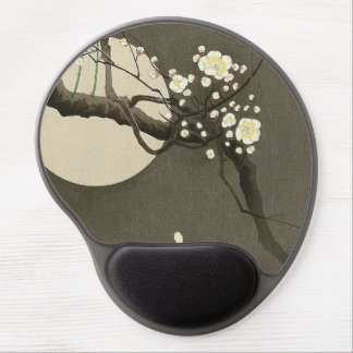 Plum Blossoms at Night by Ohara Koson Vintage Gel Mouse Pad