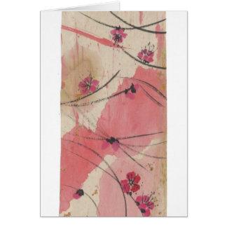 Plum Blossoms Long Blank Card