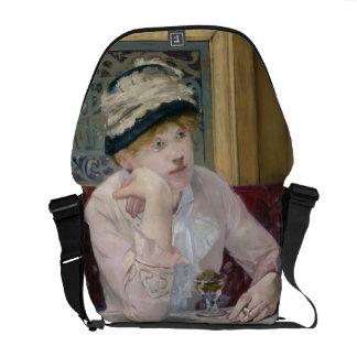 Plum Brandy by Edouard Manet Messenger Bag
