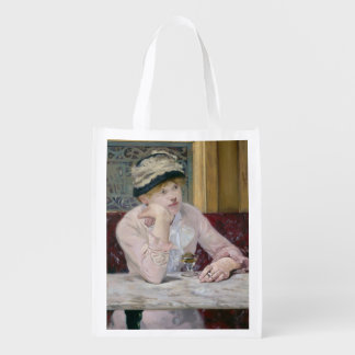 Plum Brandy by Edouard Manet Grocery Bag